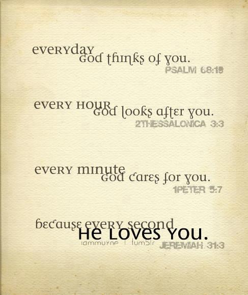Jesus loves you SO much! He wants to know you! How cool is that!?